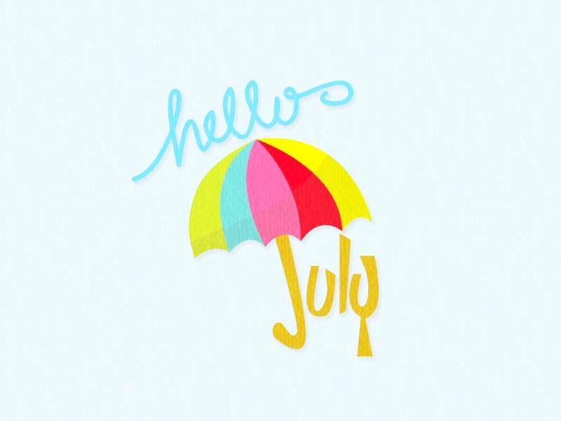 July clipart hello clipart black and white stock