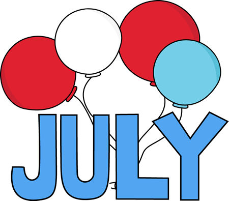 Hello clipart july. Month
