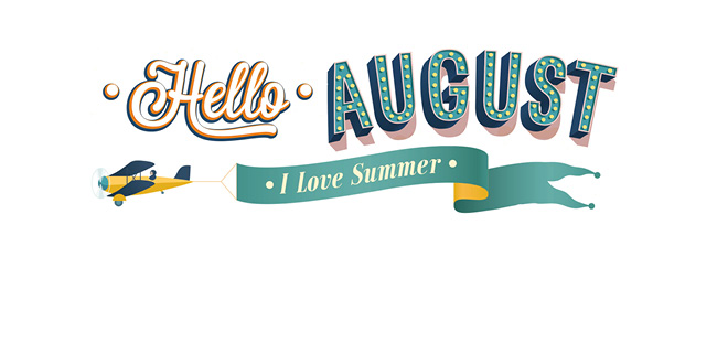 Hello clipart july. August images