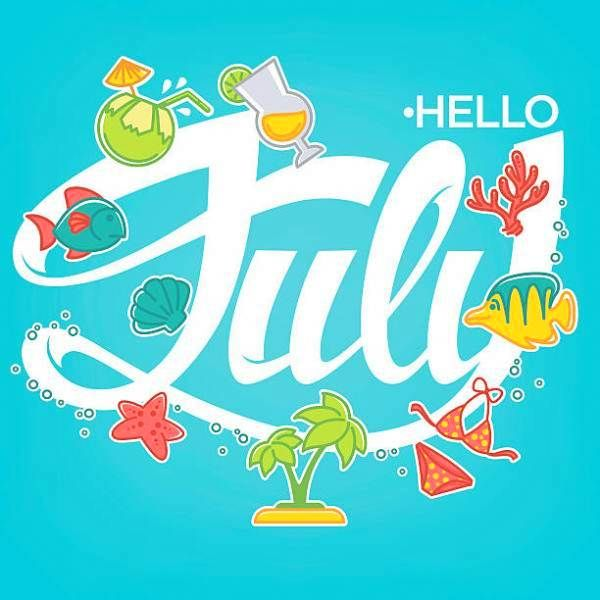 Hello clipart july. Download