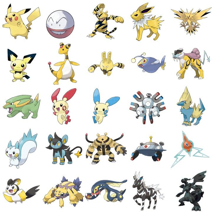 Hello clipart pokemon electric. Type can you name