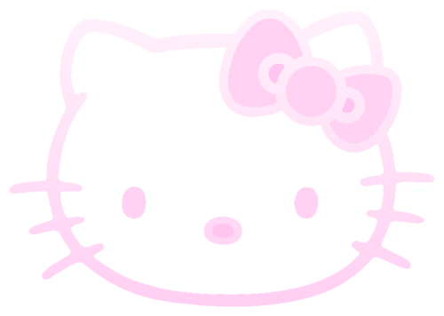 kitty transparent pink