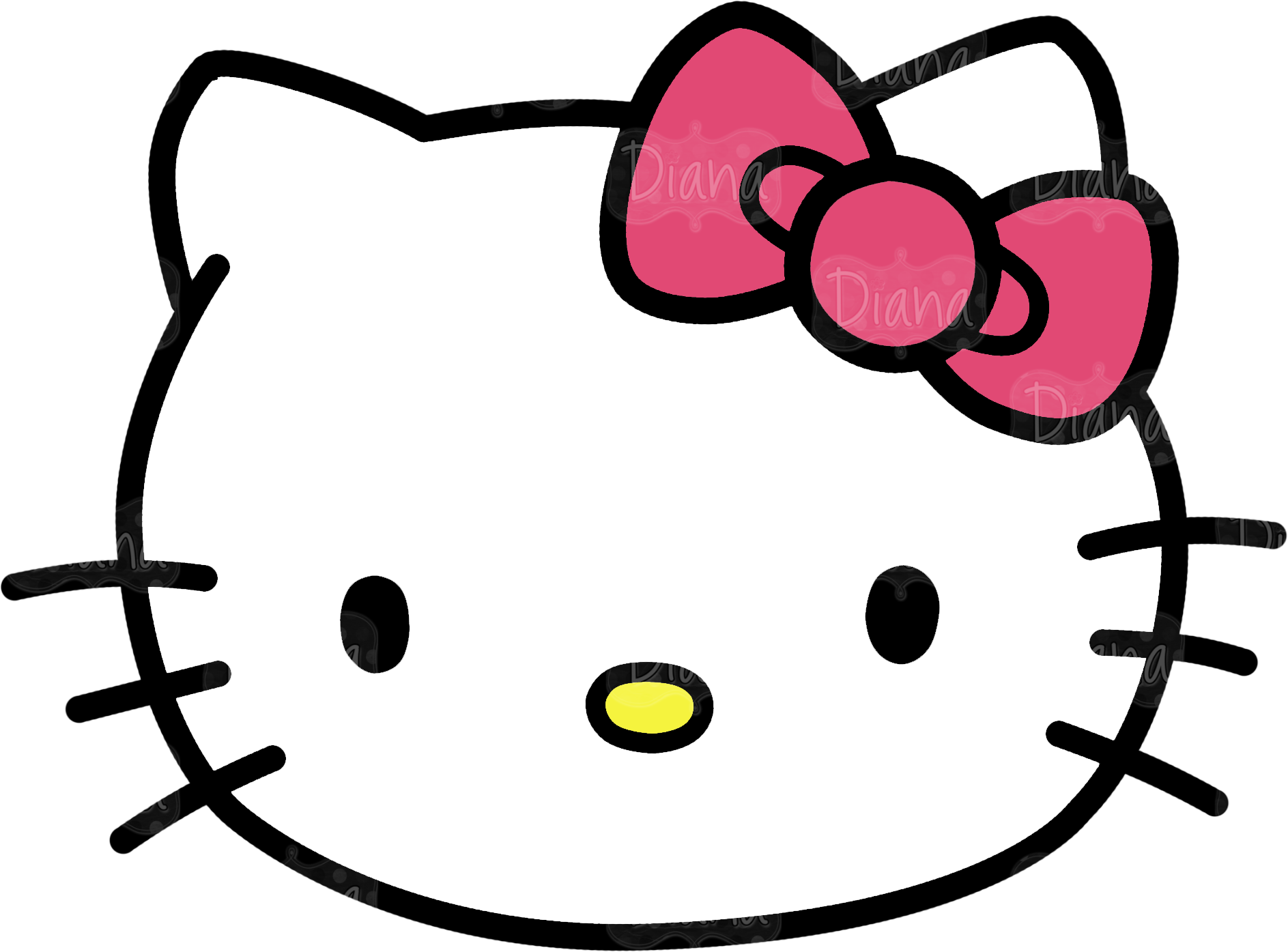 Hello kitty face png. Collection of drawing