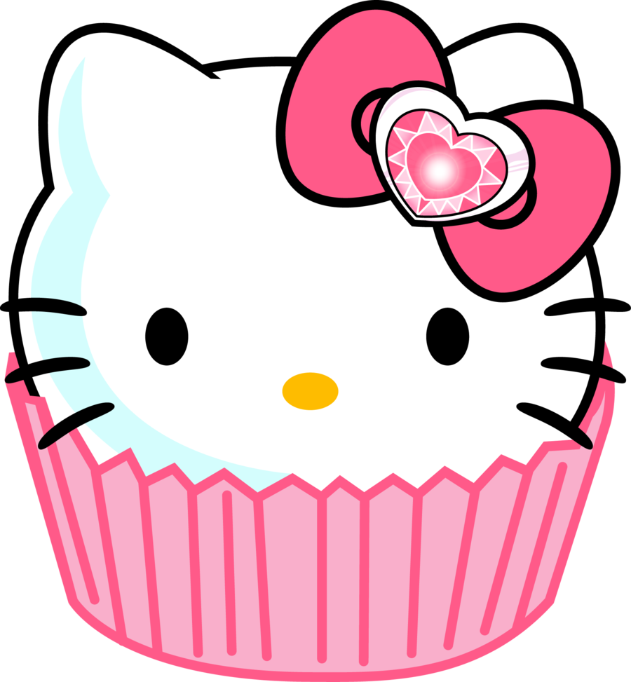 Hello kitty face png. Cupcake soooo cute u