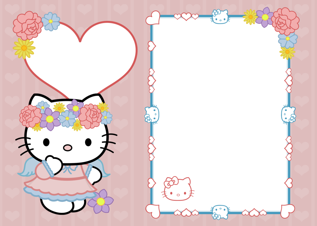 Hello kitty frame png. X copy by