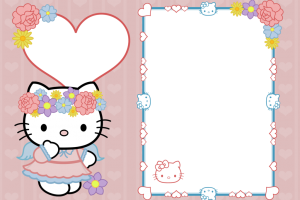 Hello kitty frame png. Image related wallpapers
