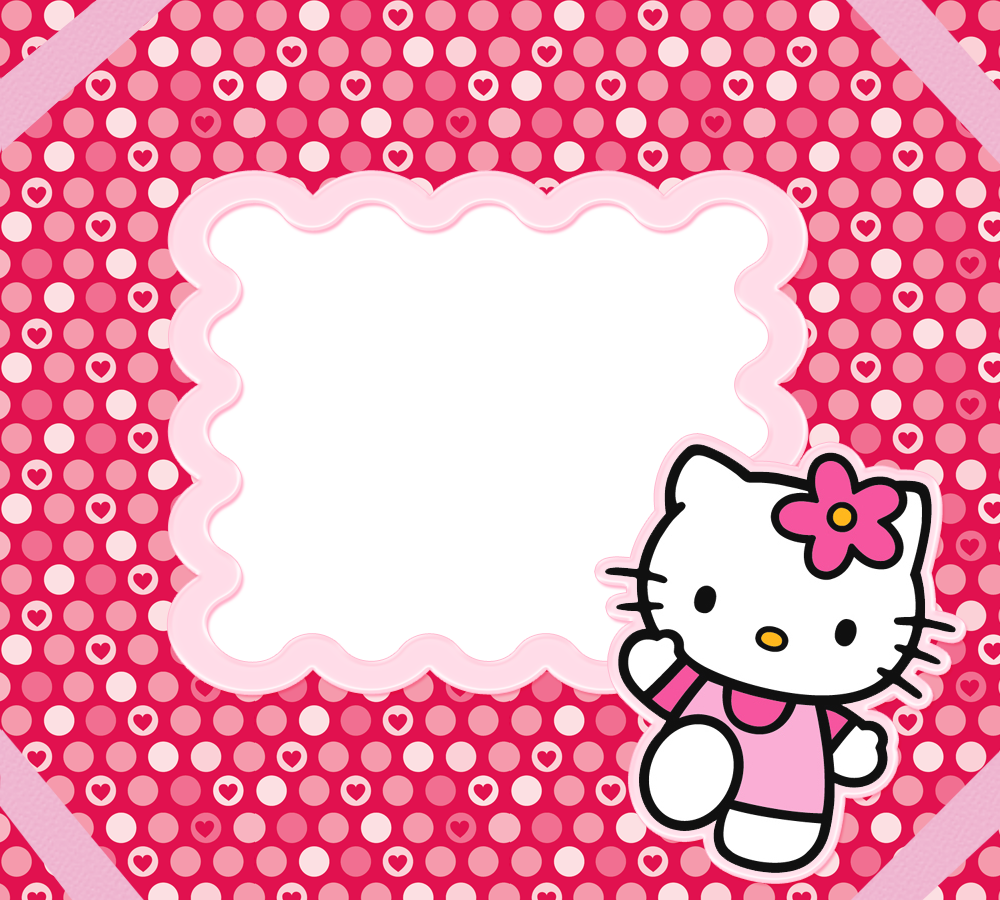 Hello kitty frame png. For children free ppt