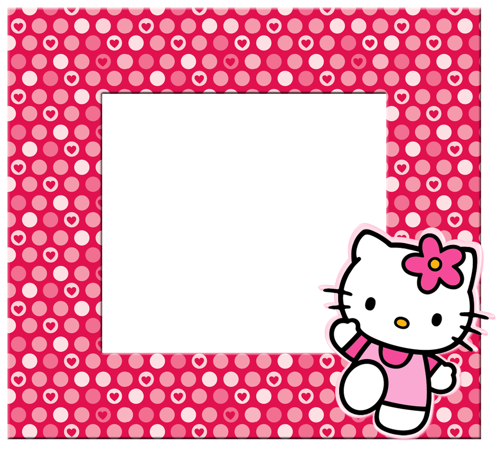 Hello kitty frame png. Borders images and backgrounds