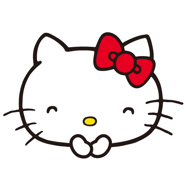 Hello kitty head png. Pack sticker line camera
