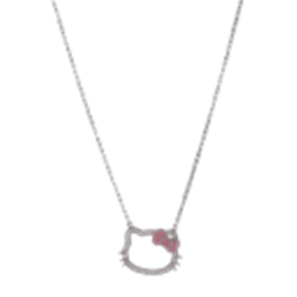 Hello kitty necklace png. Transparent face roblox