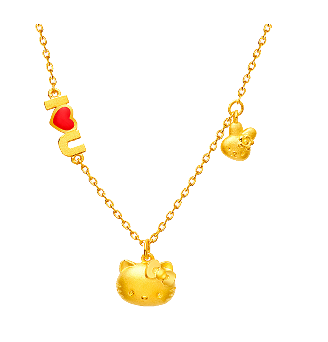 Hello kitty necklace png. Chow tai fook gold
