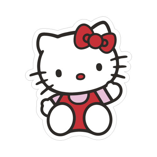 Hello Kitty Sticker Transparent Png Clipart Free Download Ywd