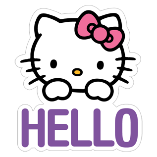 Hello kitty sticker png. Free download viber