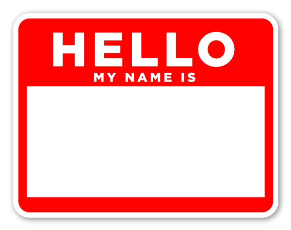 Hello my name is sticker png. Stickerapp red and white
