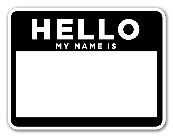 Hello my name is sticker png. Stickerapp black and white