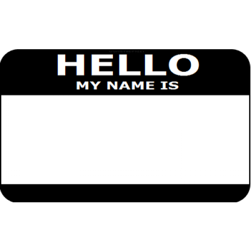 Hello my name is sticker png. Best photos of template