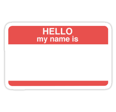Hello my name is sticker png. Props carl escoffier media