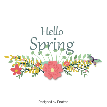 Hello spring png. Images vectors and psd