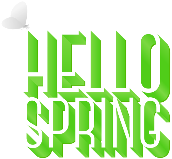 Hello spring png. Clip art gallery yopriceville