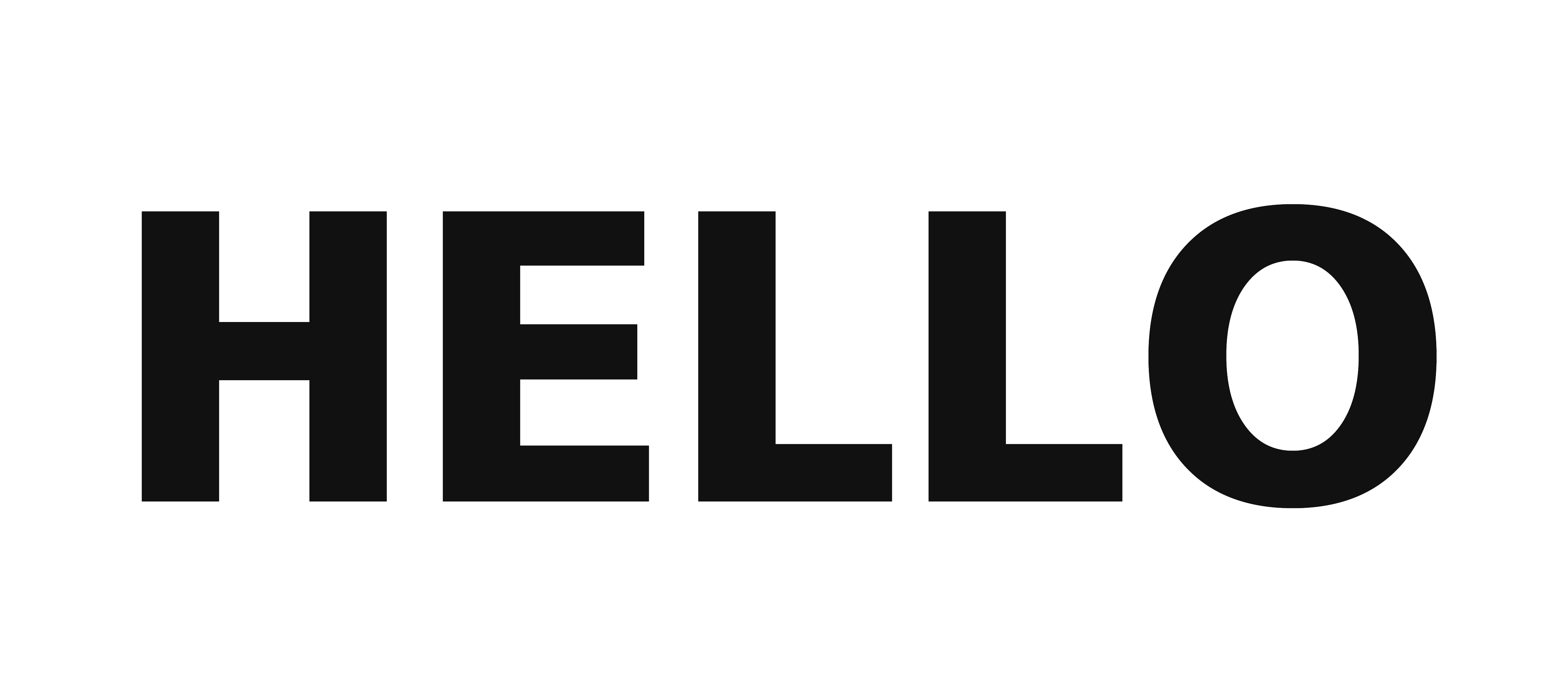 Hello transparent. Word png images free