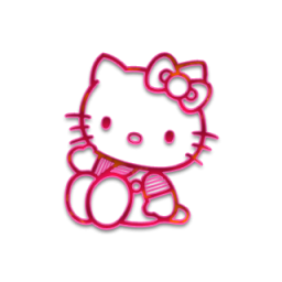 Hello transparent pink. Kitty icons png vector