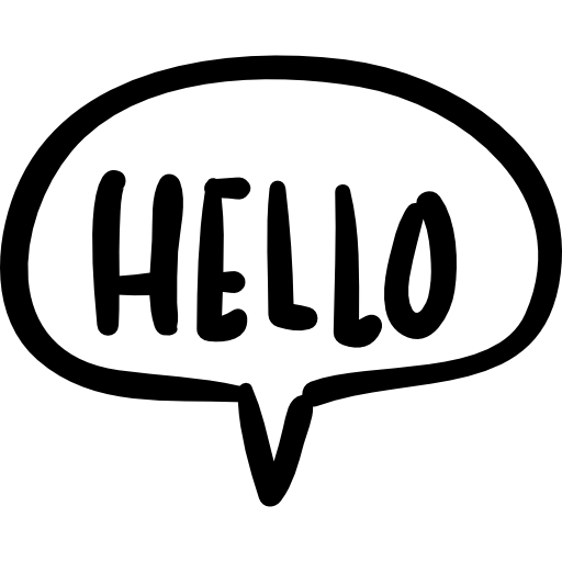 Hello transparent speech bubble. Handmade chatting symbol free