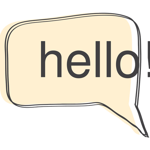 Hello transparent speech bubble. Png svg vector
