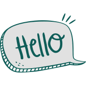 Hello transparent speech bubble. Mug spreadshirt