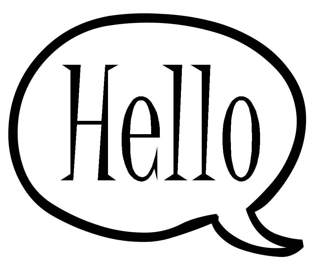 Hello transparent speech bubble. Moutifit iam ready to