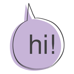 Hello transparent speech bubble. Yellow vector download cartoon