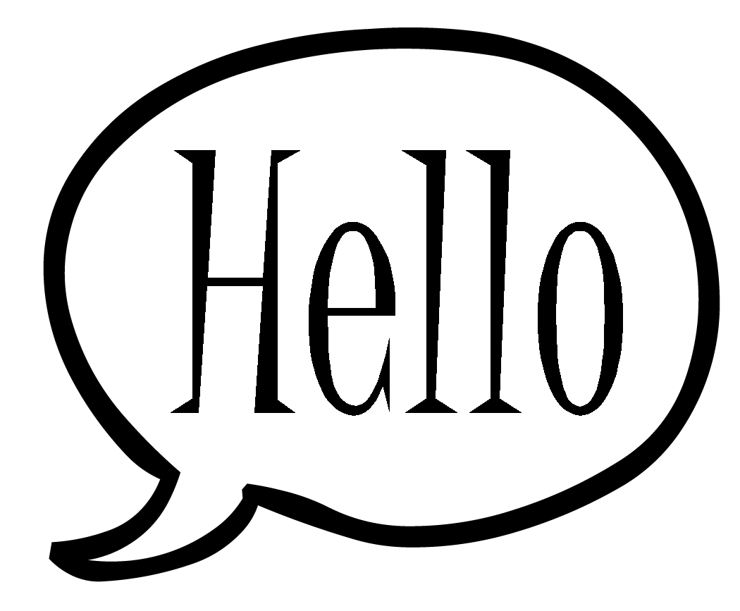 Hello transparent speech bubble. Image r png flood