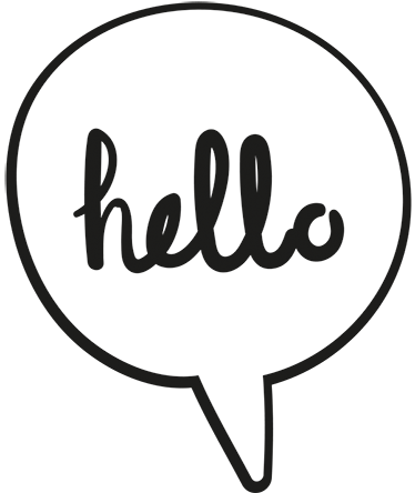 Hello transparent speech bubble. Comic book tenstickers