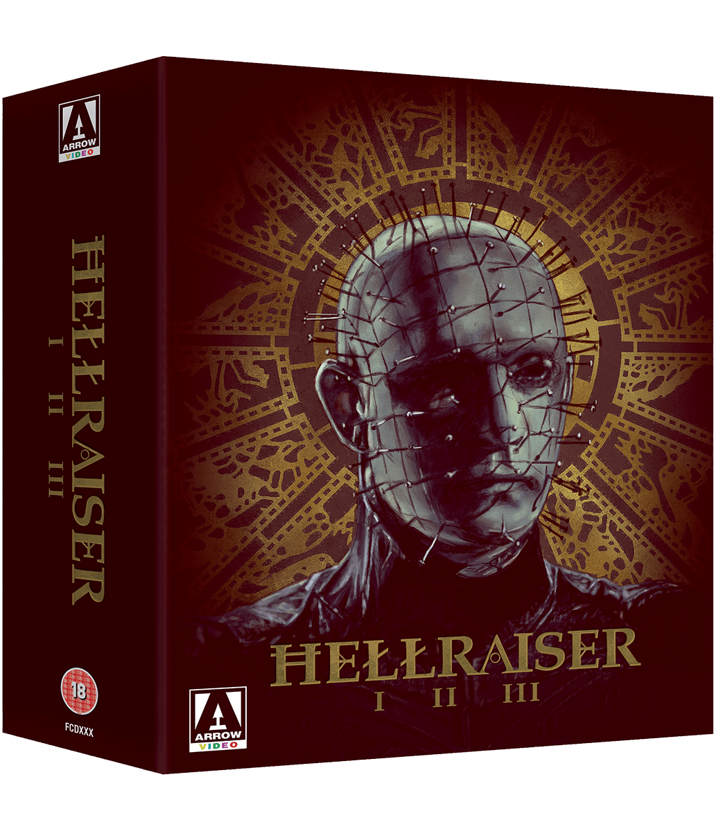Trilogy set blu ray. Pinhead drawing hellraiser box picture royalty free stock