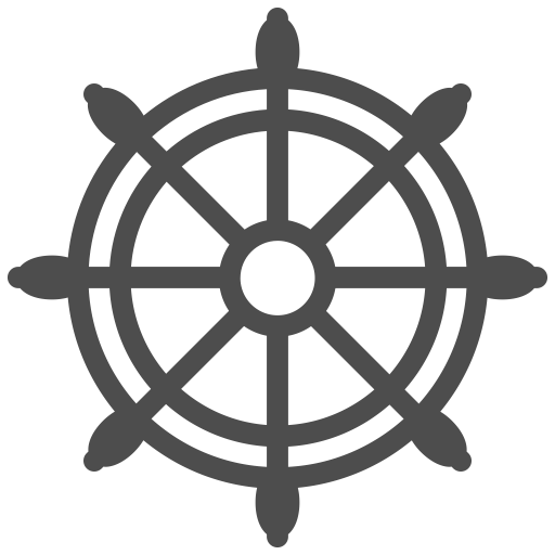Helm vector boat. Travelling icon set ist