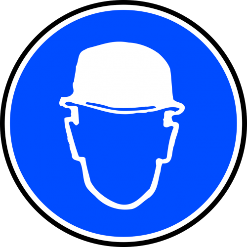 Helm vector traditional. Hard hat mandatory signs