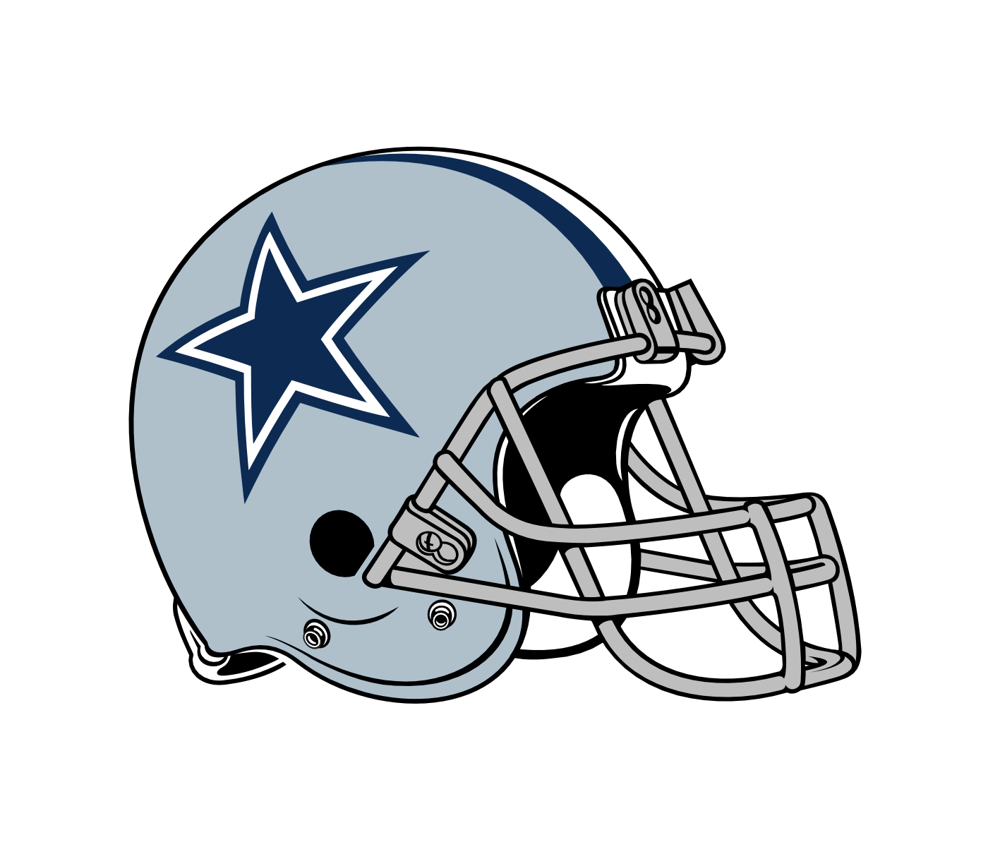 Clipart at getdrawings com. Dallas cowboys helmet png jpg black and white stock