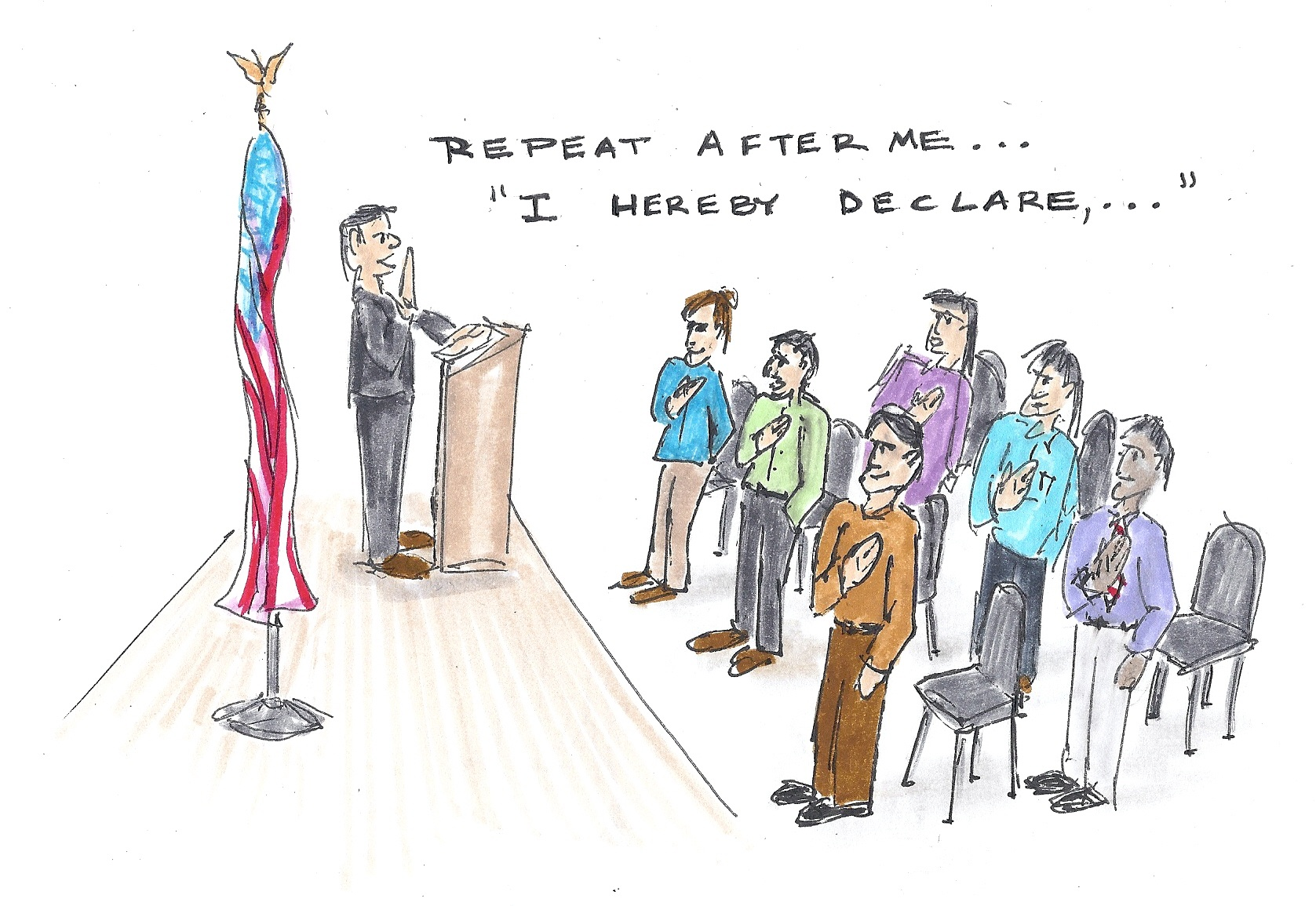 Help clipart chief citizen. Naturalization ceremony