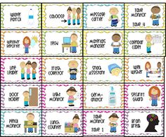 Helpers clipart attendance. Preschool helper chart