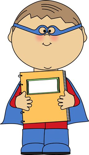 Teacher and student at. Superheroes clipart super reader png download