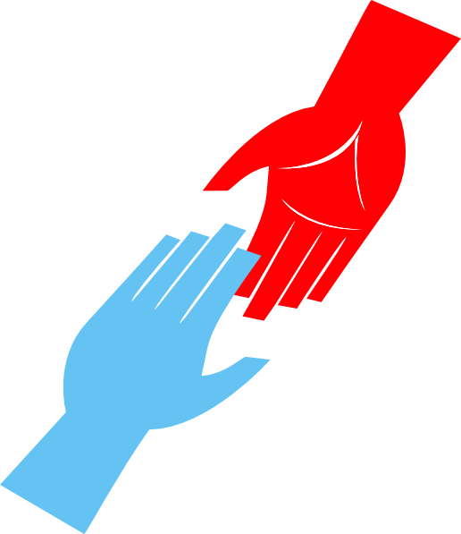 United drawing helping hand. Hands clip art clipart