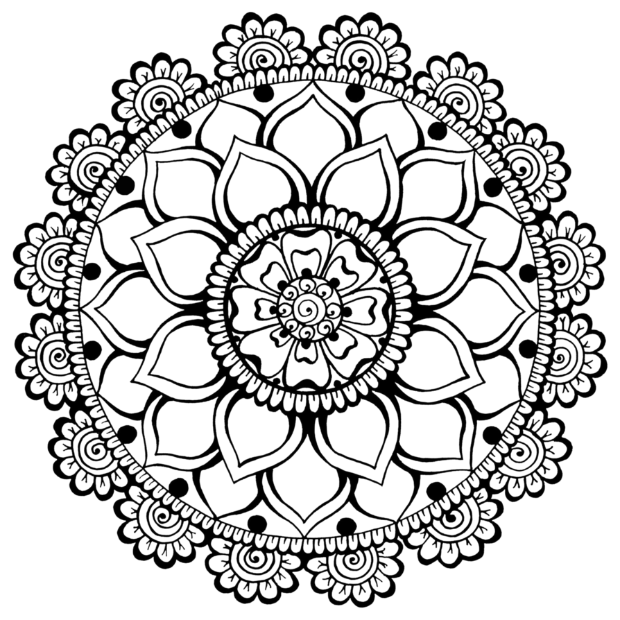 Henna flower png. By teenu stock on