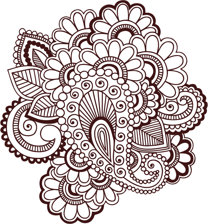 Henna flower png. Collection of clipart