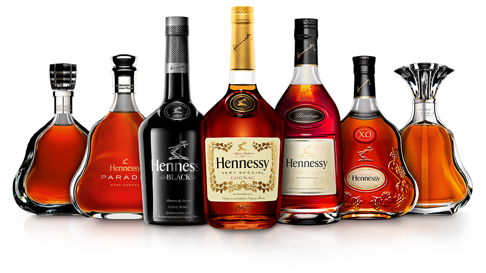 Hennessy bottle png with clear background. Cognac