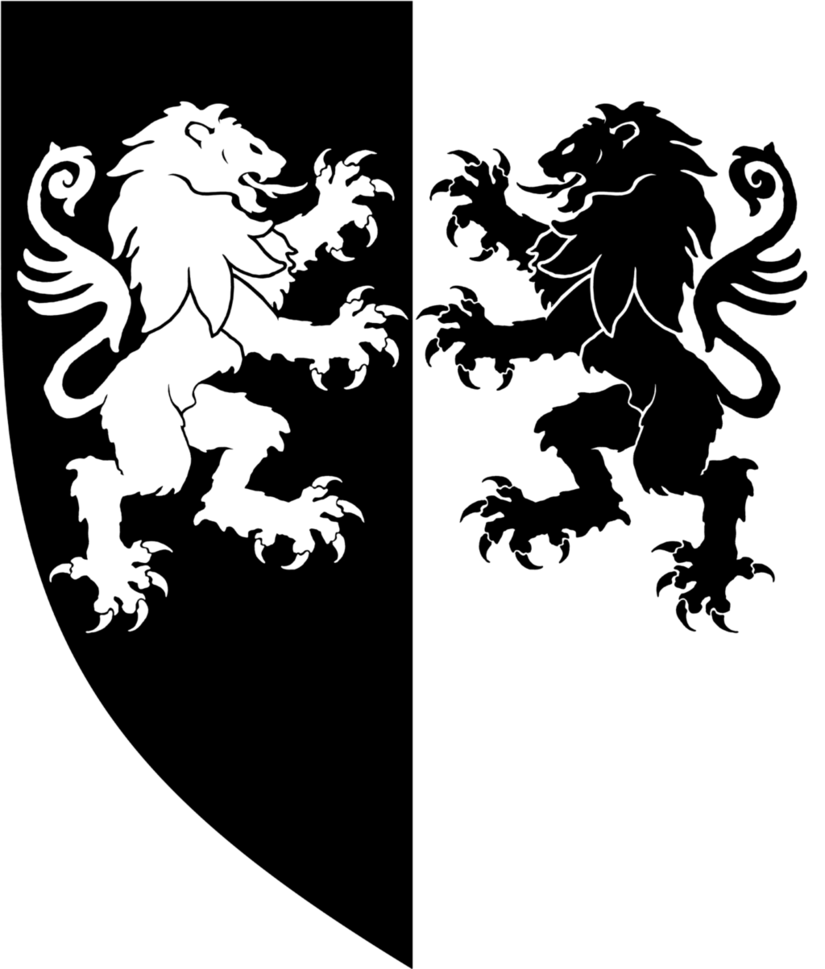 Heraldic lion crest png. Twin lions heraldry by