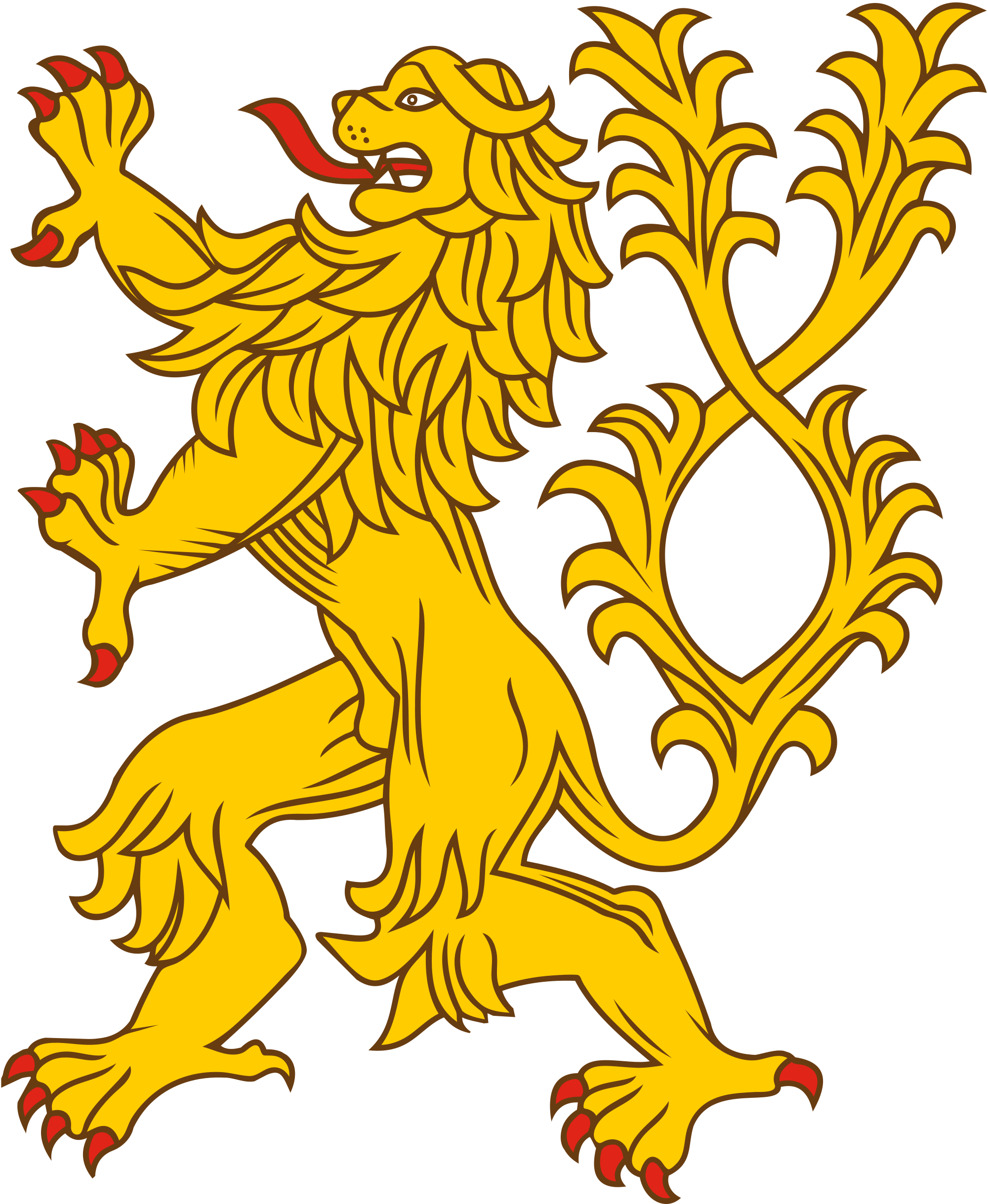 Heraldic lion crest png. File two tailed svg