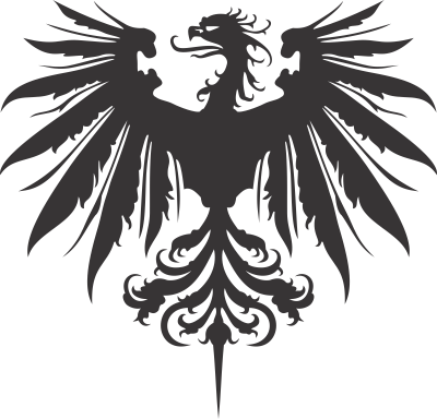 Crest of house larethar. Heraldry vector banner black and white library