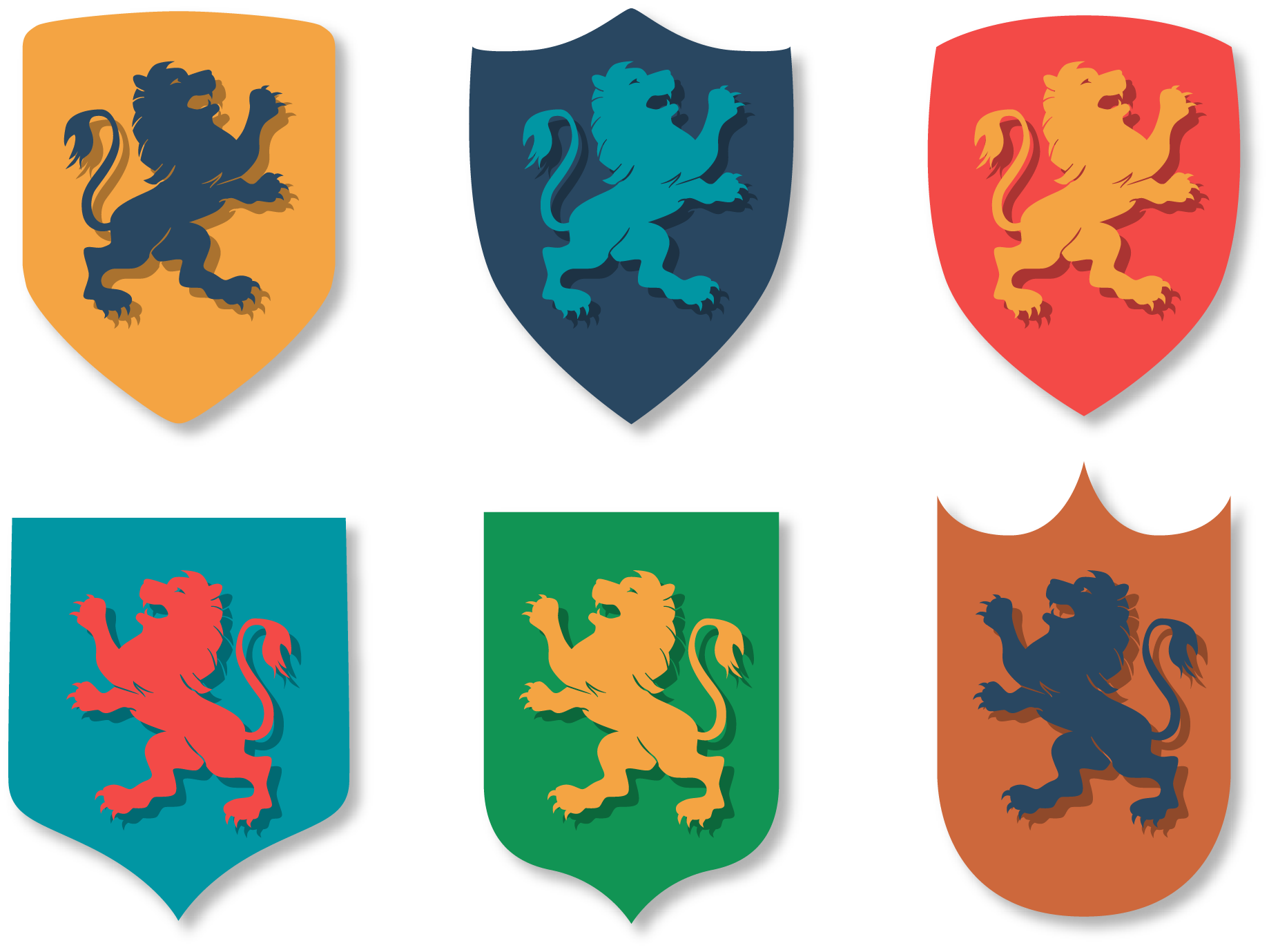 Heraldry vector banner. Transprent png free download