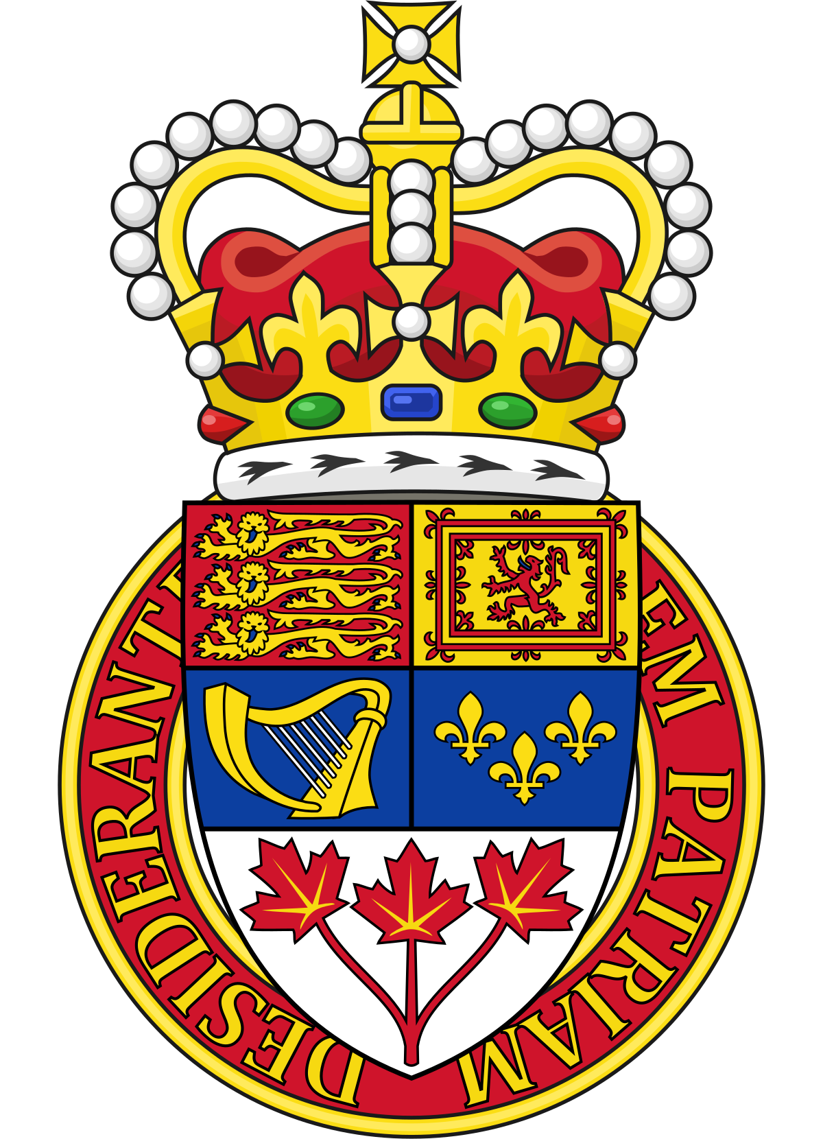 Heraldry vector civic crown. Canadian wikipedia