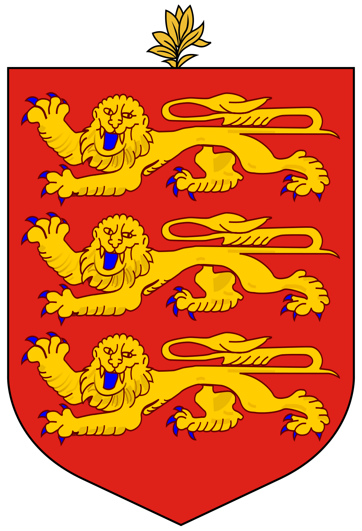 Heraldry vector classic. Coat of arms guernsey