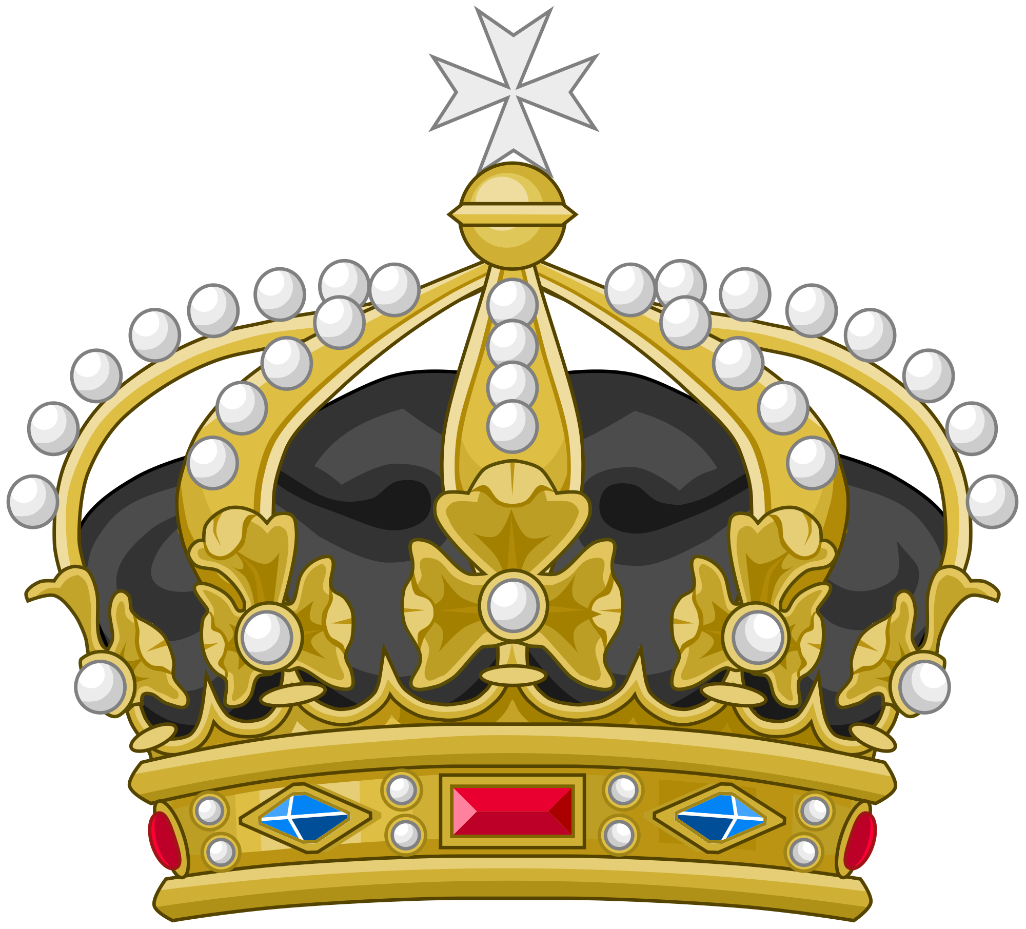 Heraldry vector element. File crown of the